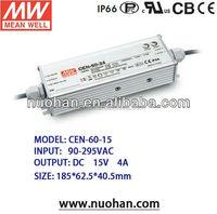 UL CE EMC high power factor led driver led transformer driver 15v 60w led power driver
