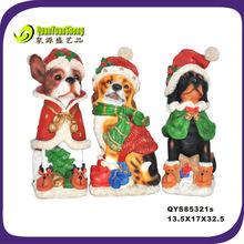 resin christmas dog/christmas dog decoration/christmas dog ornament resin material