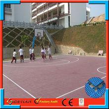 interlocking price court floor basket ball professional