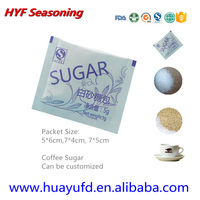 Small Portion White Refined Cane Sugar in PE coated Paper Packet