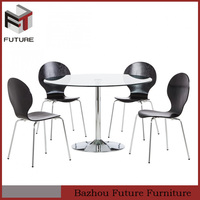 New design 4 seater glass dining table