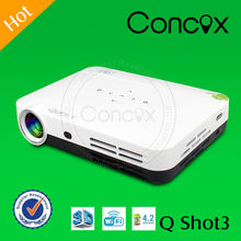 3D pocket Projector Q Shot3 Built in Android 4.2 Quad-Core Player with wifi & Bluetooth