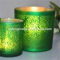 shining vidro suporte de vela para decoração de mesa