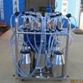 4 cubos de ordeño móvil con la máquina de lavar la taza jetter bandeja