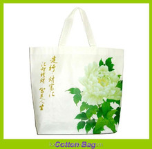 luxury flower printed gift shopping cotton tote bag