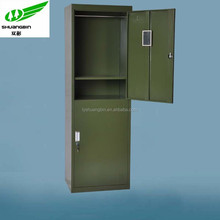 Green army clothes cabinet /2 door steel clothes cabinet/ Knock down metal steel clothes cabinet