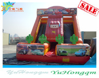 china lowest price cheap big wave inflatable water dry slide for sale