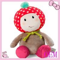 Popular plush baby lovely doll strawberry fabric doll