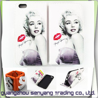 PU Filp Cover for iphone 6 with Card holder and Stander for iphone 6S Case
