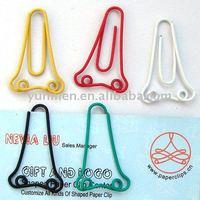 P033 office & school supplies color Nose shaped paper clip