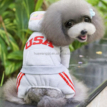 Grey pet outfit, USA new design fashion dog winter clothes, clothing suppliers for boutiques