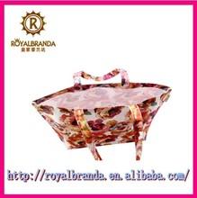 flower printing foldable shopping bag