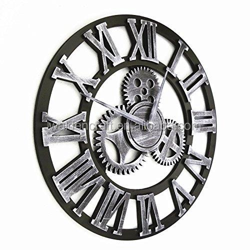 Main surdimensionn 3d r tro rustique art de luxe for Horloge murale fer forge