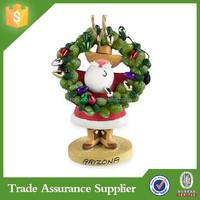 Polyresin santa claus christmas ornaments decoration