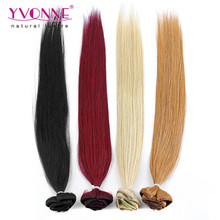 Wholesale peruvian clip in hair extensions for white women