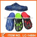 moderno de plástico eva zapatos zuecos para los hombres