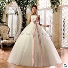 The bride wedding dress sweet bowknot wedding dress Floor Length wedding dresses