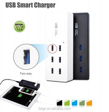 Fashionable 6 port USB home wall charger good quality and fashion design