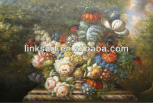 handmade famous oil painting of classic flower hotel decoration