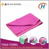 2015 anti slip yoga towel, fabrics yoga towel, embroidered microfiber yoga towel