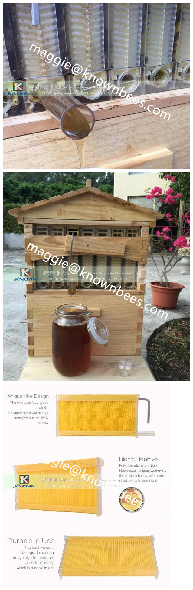 New style flow hive for easier honey harvesting