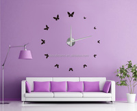 3D Flying butterfly style modern DIY wall clock /country style clocks