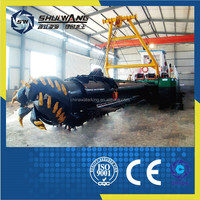 China 3500m3/h portable dredgering machine / iron sand dredger ship/ hydraulic cutter suction dredger on sale