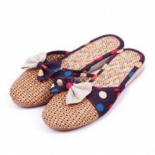 2015 Top quality excellent TPR sole flax gel flip flop habit Linen slippers