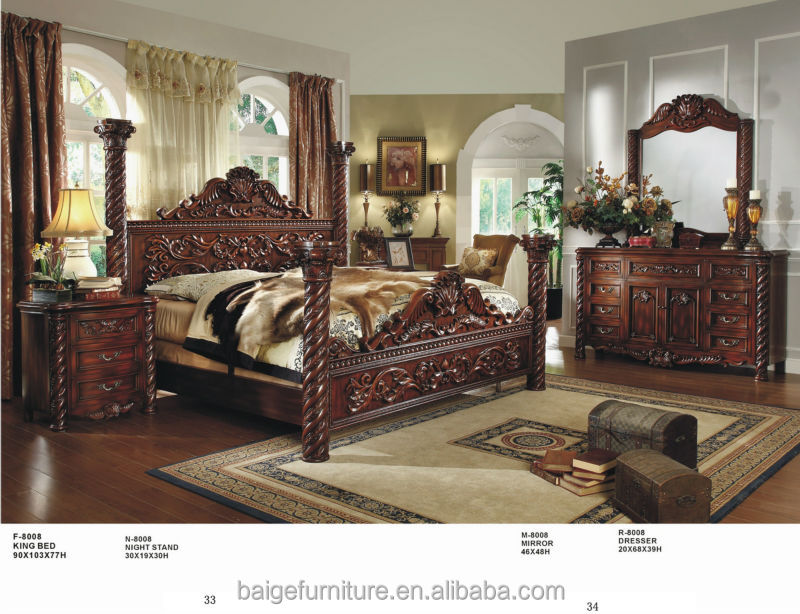 가구 아카시아 침실 세트 이국적인 나무 침실 가구 나무 침대 ...