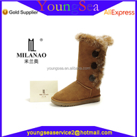 New design hot sale winter used women winter boots wholesale