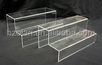 Clear Acrylic Two Tiers Wide Risers acrylic table top display stand