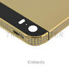 Side Crystal 24kt Gold Plated Back Cover Housing for iPhone 5s