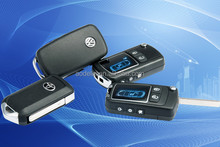 One-way Security & Remote Start, FM LCD two way car alarm system with remote engine starter