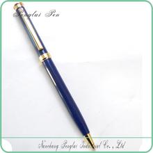 2015 Custom cheap slim logo metal lady design hot selling hotel twist ergonomic ball pen