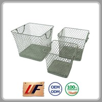 Advertising Promotion Elegant Top Quality Customizable Sundries Metal Wire Office Baskets