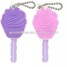 2012 new arrival soft PVC key cap for promotion gift