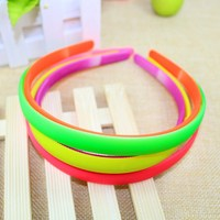Free shipping wholesale 12mm width candy color ABS plain plastic headband with teeth for children