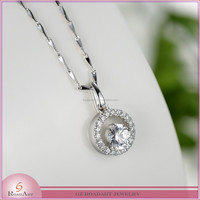 CZ stones and 925 sterling silver pendant for wholesale