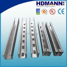 steel strut u channel sizes