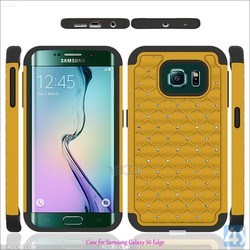For Galaxy S6 Edge Dual Layer PC Silicone Protective Cell Phone Case