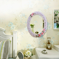2015 on sale resin mirror for bathroom and dressing table decor high quality colored 0.63kg 28cm style oval wall mirror BY001