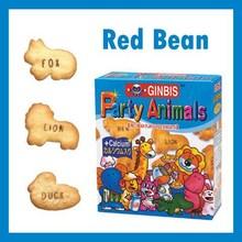 Animal de la forma de frijol rojo de dibujos animados galletas