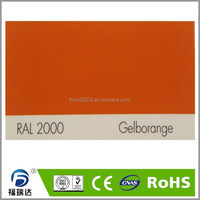 powder coating ourdoor exterior RAL2000 yellow orange