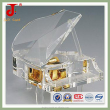 Personalized engraving crystal piano crystal music box for wedding