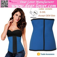 New style wholesale hot selling blue latex sex women photo corset