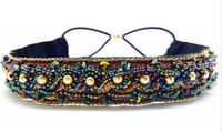 High quality vintage handmade hair accessories elastic headband with beads