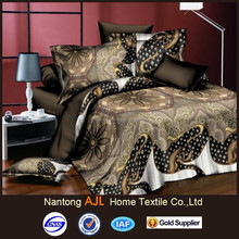 Gorgeous design bed sheet queen size with 90gsm rotary screen polyester on sale