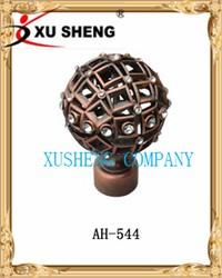 China xusheng New models Spherical diamond curtain rods finial 28mm