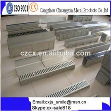 polímero canal de drenaje de pozos y zanjas con rejillas de acero y cubiertas para piscina rodea