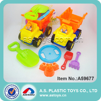 summer play plastic beach tractor with sand tools toys